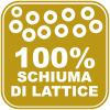 100% schiuma di lattice